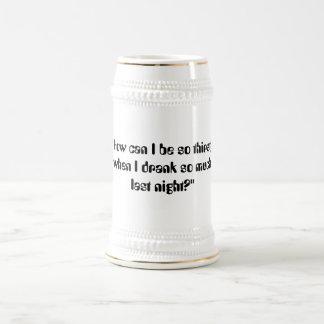 Stein sediento jarra de cerveza