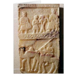 Stela funerario, de Yemen Tarjeta De Felicitación