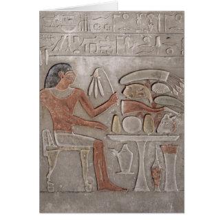 Stela que representa el difunto tarjetas