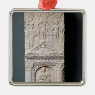 Stela votivo dedicado a Saturn Adorno Navideño Cuadrado De Metal