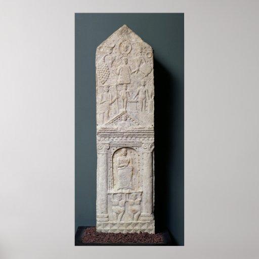 Stela votivo dedicado a Saturn Impresiones