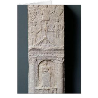 Stela votivo dedicado a Saturn Tarjeta De Felicitación
