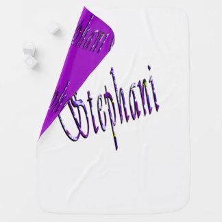 Stephanie, nombre, logotipo, manta reversible del