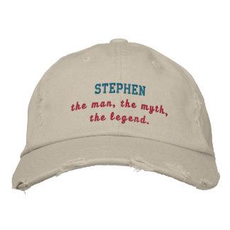 Stephen la leyenda gorra de beisbol bordada