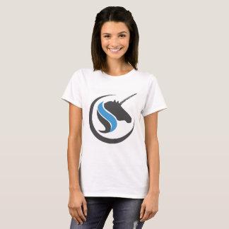 Sterling y camiseta de piedra del unicornio