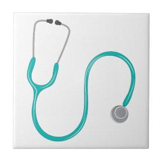 Stethescope Azulejo Cuadrado Pequeño