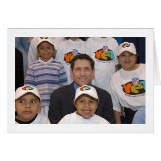Steve y los niños tarjeta de felicitación