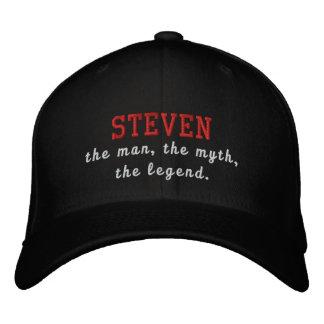 Steven el hombre, el mito, la leyenda gorra bordada