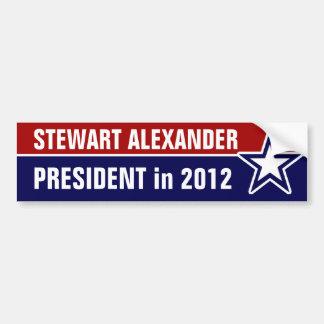 Stewart Alexander en 2012 Etiqueta De Parachoque