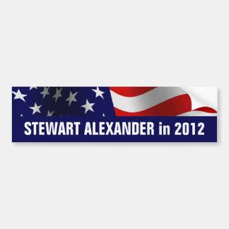 Stewart Alexander en 2012 Pegatina Para Coche