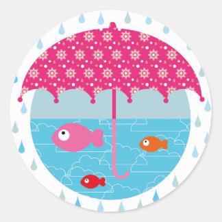 "Stickers ""bien a los refugios "" pegatina redonda"