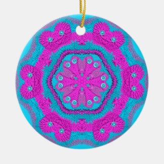 Stitchery rosado/azul 2 adornos