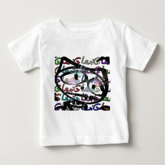 Stitchlip en el modelo de Levi G. Tag White en Camiseta De Bebé