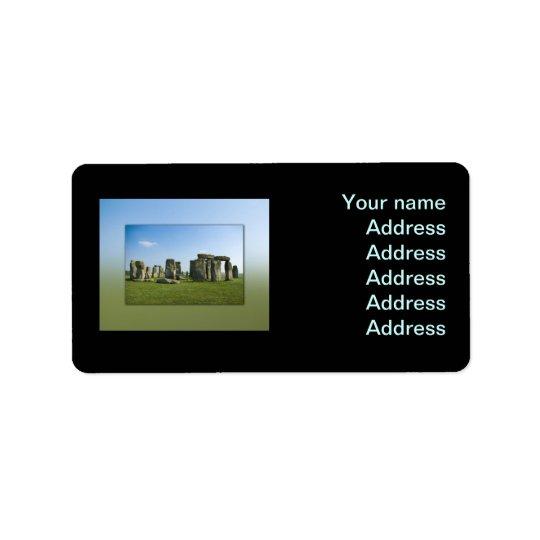 Stonehenge Etiquetas De Dirección