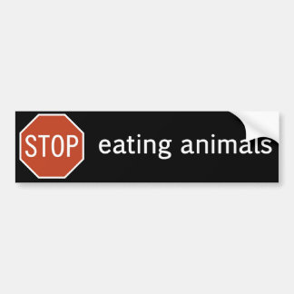 STOP-EATING-ANIMALS PEGATINA PARA COCHE