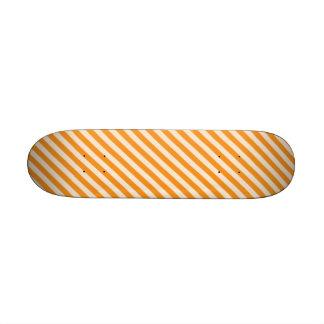 STR-OR-1 Bastón de caramelo anaranjado y blanco Patín