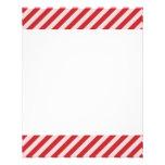 [STR-RD-1] Bastón de caramelo rojo y blanco rayado Tarjeton