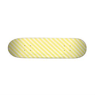 STR-YE-01 Bastón de caramelo amarillo rayado Monopatin Personalizado