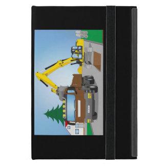 Straßenbaustelle con CAMIONES marrones y Funda Para iPad Mini