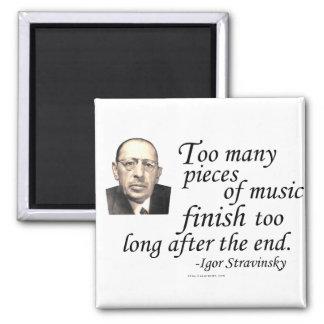 Stravinsky en conclusiones imán cuadrado