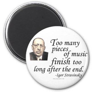 Stravinsky en conclusiones imán redondo 5 cm
