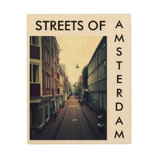 Streets of Amsterdam Impresión En Madera