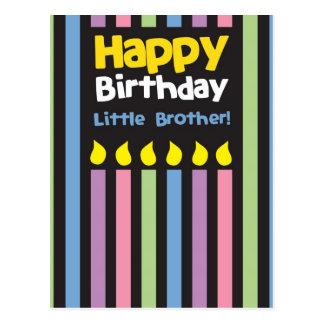 Stripey de pequeño Brother del feliz cumpleaños Postal