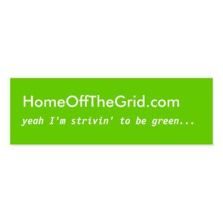 Strivin a ser verde - tarjeta del perfil plantillas de tarjetas personales