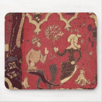 Stumpwork que representa Tristan y a Isolda Alfombrilla De Ratón
