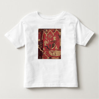 Stumpwork que representa Tristan y a Isolda Camiseta De Bebé