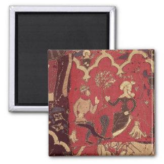 Stumpwork que representa Tristan y a Isolda Imanes De Nevera