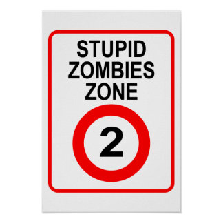 Stupid Zombies Zone Póster