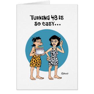 Su 48.a tarjeta de felicitación del cumpleaños