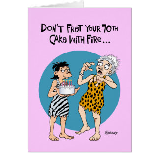 Su 70.o cumpleaños tarjeta de felicitación