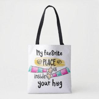 Su abrazo la mi bolsa de asas preferida del lugar