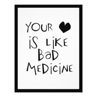 Su amor es como mala imagen del texto de la medici tarjetas publicitarias