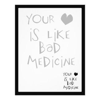 Su amor es como mala imagen del texto de la medici tarjetón