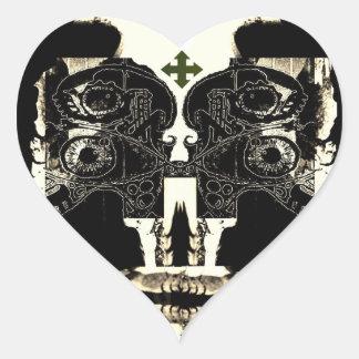 Su amor es extraño pegatina en forma de corazón