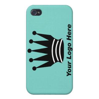 Su azul de encargo i del logotipo de la marca del  iPhone 4/4S carcasa