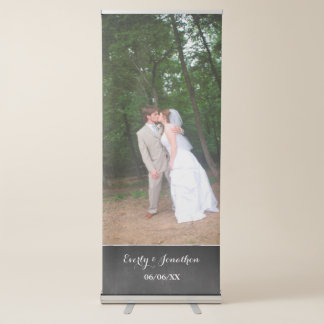 Su bandera del boda de la foto pancartas retráctiles