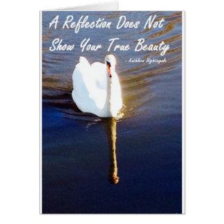 Su belleza verdadera tarjeta de felicitación