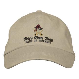 Su bordado personalizado del pirata gorra bordada