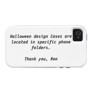 Su caja de la casamata de Halloween iPhone 4/4S Fundas