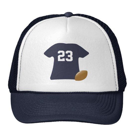 Su camisa del fútbol con la bola gorras de camionero