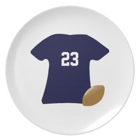 Su camisa del fútbol con la bola v2 platos para fiestas