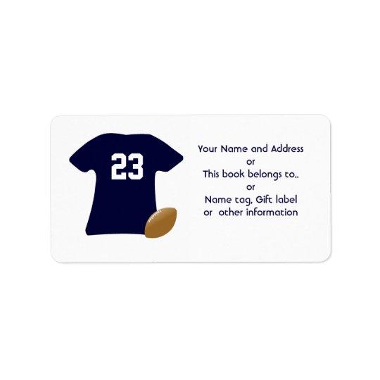 Su camisa del fútbol con las etiquetas del fútbol etiquetas de dirección