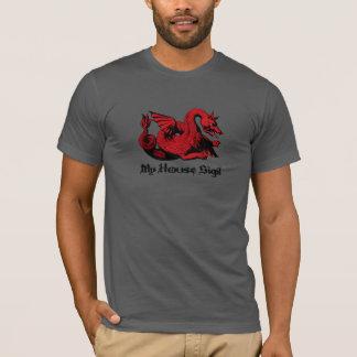 Su camiseta roja del dragón de Sigil de la casa
