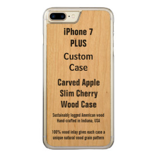 Su caso más del iPhone 7 delgados de encargo de Funda Para iPhone 8 Plus/7 Plus De Carved