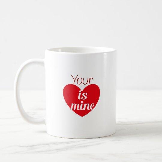 Su corazón es el mío - taza del amor