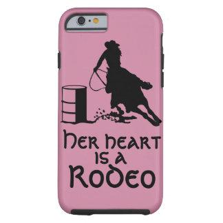 Su corazón es un barril del rodeo que compite con funda resistente iPhone 6